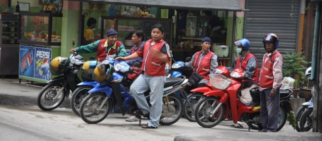Motorbike taxis in Bangkok