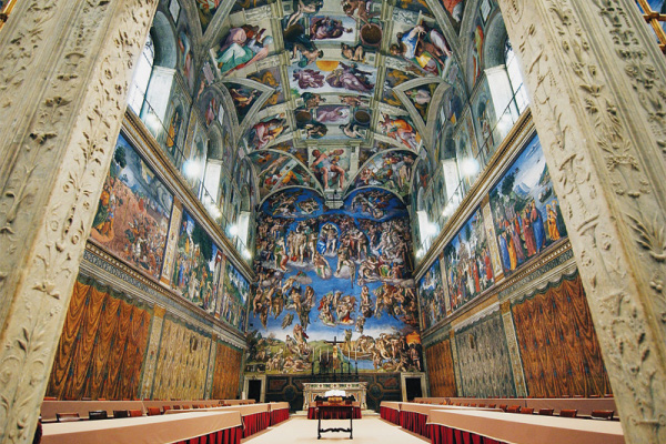 Sistine Chapel's magnificent interior