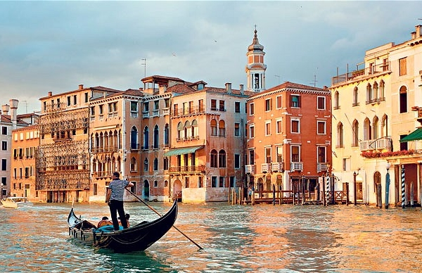 Gondola ride at Venice canal